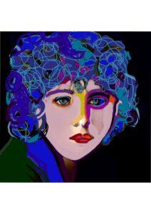 Blue print art